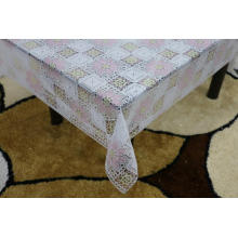 white Printed pvc lace tablecloth by roll